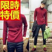 長袖毛衣-美麗諾羊毛韓風保暖套頭男針織衫2色63t86【巴黎精品】