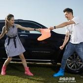雨鞋女韓國時尚可愛成人男雨鞋套防滑加厚耐磨兒童雨靴中短筒防水 朵拉朵