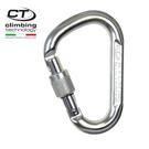Climbing Technology 水滴型鋁合金有鎖鉤環2C45900 原色/城市綠洲專賣(攀岩鉤環.吊環)