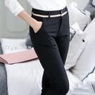 西褲女送皮帶21休閒褲女長褲韓版黑色褲子女春秋季職業女士西裝褲外穿 快速出貨