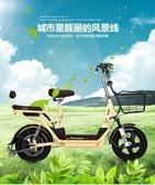 電瓶車 電動自行車48V14寸電瓶車男女減震迷你型電動車 莎瓦迪卡