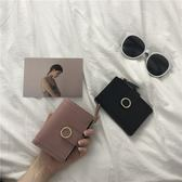 錢包 韓版錢包女短款復古歐美風搭扣拉鍊女士錢包零錢包女卡包 艾維朵