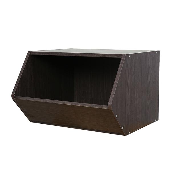 樂嫚妮 堆疊 玩具收納櫃 玩具櫃 空櫃-深胡桃木色