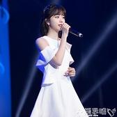 禮服洋裝禮服2021夏秋新款韓版短裙白色禮儀氣質連身裙女宴會平時可穿 嬡孕哺