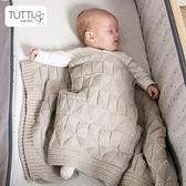 新生嬰兒針織毛毯純棉北歐ins風保暖粗毛線空調毯子蓋抱四季通用 夢幻小鎮ATT
