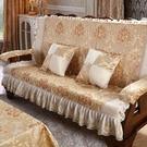實木紅木質老式木頭三人座沙發墊加厚海綿連...