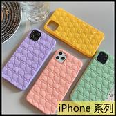 【萌萌噠】iPhone11 Pro Max XR Xs Max 6s 7 8 SE2 可愛糖果色系 馬卡龍立體愛心 全包防摔軟殼 手機殼