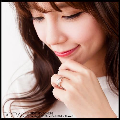 彼兔 betwo.戒指 OKB*甜蜜璀璨圖案貼鑽金銀色多款戒指【056-AD09】06020301