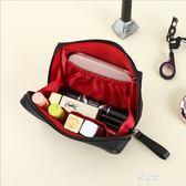 韓國化妝包小號便攜簡約淑女迷你洗漱包防水手拿隨身旅行收納包袋    易家樂