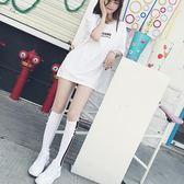 春季潮牌及膝襪女日系韓版長筒襪同款中筒襪街頭百搭高筒長襪 芭蕾朵朵