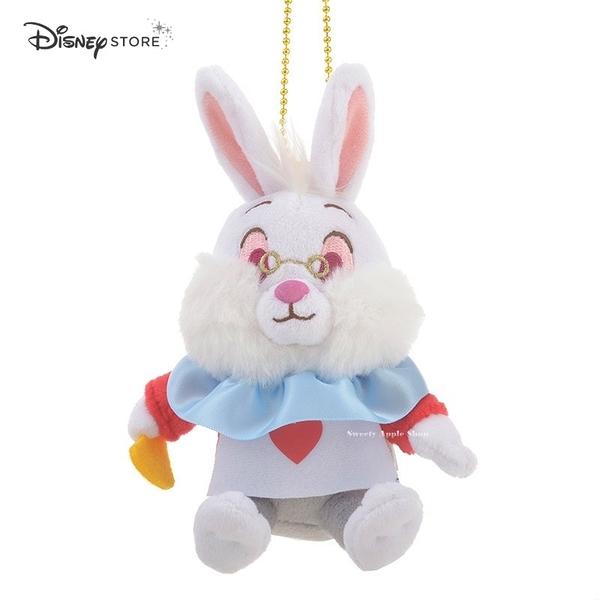 日本 Disney Store 迪士尼商店 限定 愛麗絲家族  白兔先生 珠鍊別針 玩偶娃娃