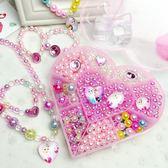 兒童手工串珠子寶寶益智玩具diy材料包制作女孩手鏈項鏈飾品冰雪【蘇迪蔓】