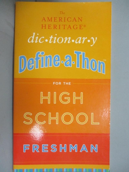 【書寶二手書T1/兒童文學_IJM】The American Heritage Dictionary Define-a-Thon for..