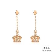 點睛品 V&A博物館系列 真愛皇冠 18K玫瑰金鑽石耳環