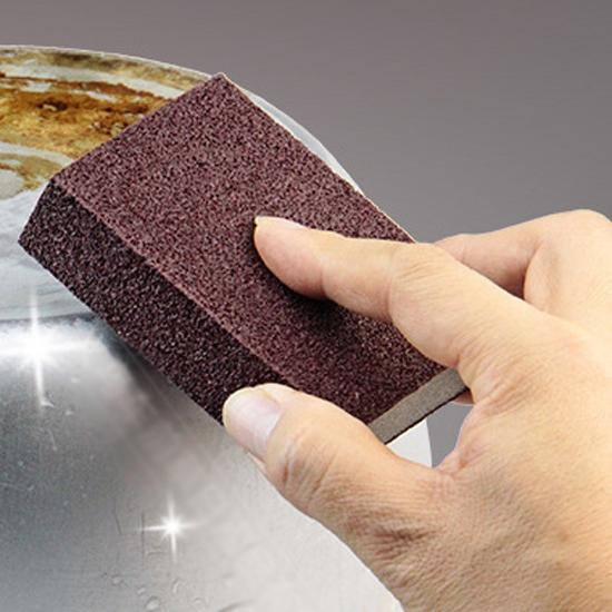 菜瓜布 百潔布 金鋼砂 刷子 海綿擦 隙縫刷 去汙 雙面加厚 金鋼砂海綿刷【B055-1】生活家精品