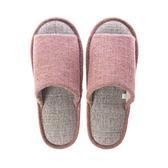 柔軟雅緻保暖室內拖鞋 粉橘L