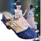 公主鞋女童包頭涼鞋新款小女孩正韓公主銀色高跟鞋小學生兒童鞋 童趣潮品