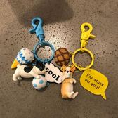 小狗狗鑰匙扣女正韓可愛公仔創意汽車鑰匙鍊書包掛飾情侶掛件 生日禮物