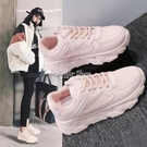 老爹鞋女ins韓版超火厚底增高學生小白鞋2010新款百搭智熏鞋 快速出貨