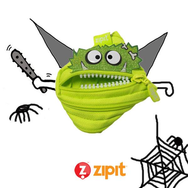 Zipit Talking 對話怪獸拉鍊包-(小)螢光綠
