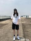 五分褲 工裝短褲女夏季2021年新款寬鬆直筒潮ins中褲高腰港味運動五分褲 【99免運】