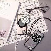 Iphone7手機殼-山茶花造型可當鏡子蘋果手機保護套2色73pp68[時尚巴黎]