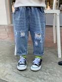 牛仔褲兒童牛仔褲破洞寶寶春裝新款韓版春秋小童洋氣潮童裝男童褲子春款 新品