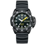 LUMINOX 雷明時Scott Cassell Deep Dive 500米專業潛水機械錶-黑x白時標/44mm A1521