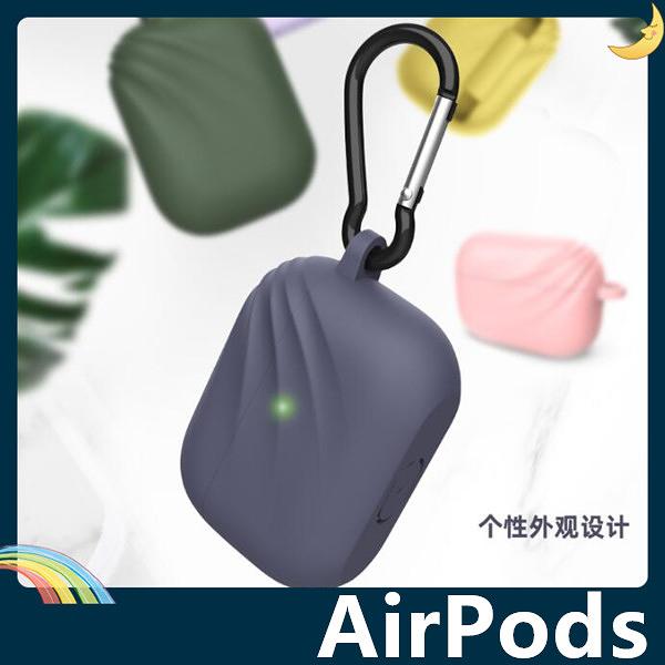 AirPods Pro 波浪紋耳機套 液態矽膠 簡約純色 防摔 充電 矽膠套 保護套 蘋果 Apple