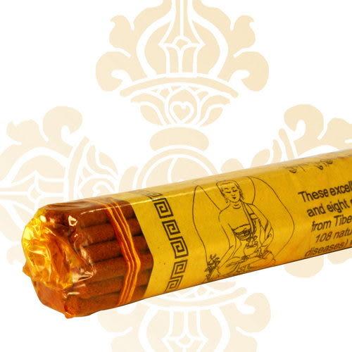 【藏傳佛教文物】臥香-藥師佛 尼泊爾純手工法製造線扎臥香