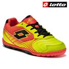 【LOTTO】VIENTO II 500 義大利進口專業五人制兒童室內足球鞋 - 橘黃