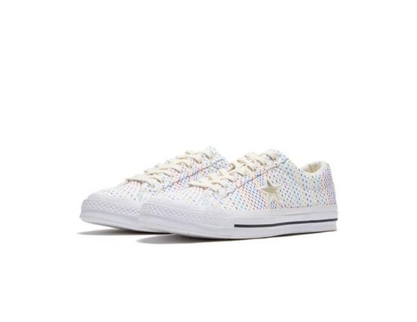 CONVERSE-ONE STAR NEON WEAVE 中性款米白色休閒鞋-NO.164607C