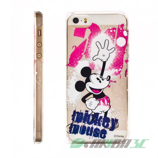 iPhone SE/5/5S 迪士尼 86hero 米奇 透明硬式保護殼