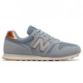 New Balance 373 女鞋 休閒 復古 麂皮 皮革 藍 金【運動世界】WL373CB2