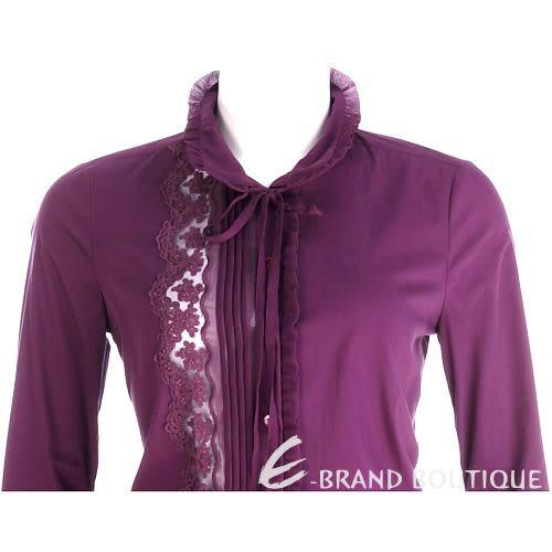 SCERVINO 紫色蕾絲綴飾長袖襯衫 0940429-04