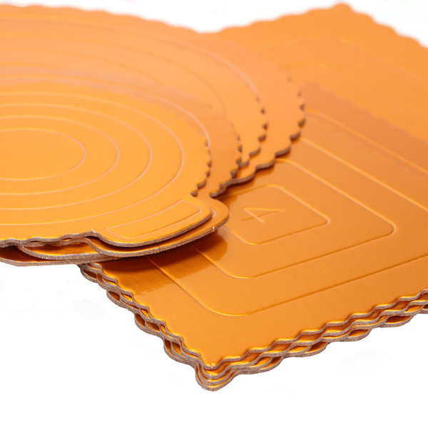 4/6/8吋 金色圓形 方形 蛋糕盒硬紙托 加厚硬蛋糕紙墊 圓形方形蛋糕慕斯底托 生日蛋糕底托【C015】