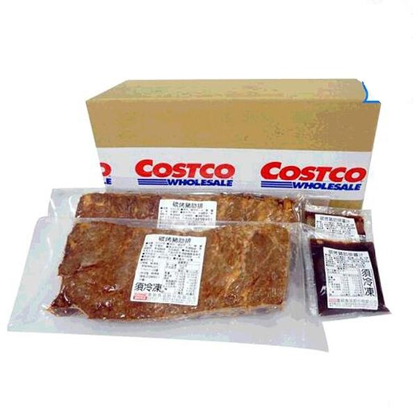 [COSCO代購 產地臺灣] W130231 富統 冷凍炭烤豬肋排 650公克 X 2入
