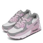 Nike 休閒鞋 Air Max 90 PS 灰 粉紅 童鞋 中童鞋 運動鞋 【PUMP306】 CD6867-002
