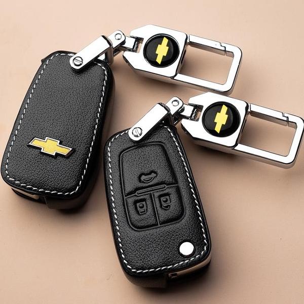 雪佛蘭邁銳寶Xl科魯茲科沃茲賽歐探界者汽車鑰匙套科魯澤創酷包扣 初語生活