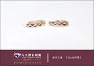 ☆元大鑽石銀樓☆【時尚設計款免運費】『幾何主義』白K金搭配玫瑰金耳環
