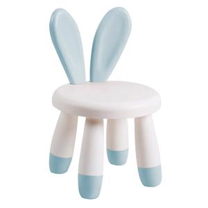 【傢俱+】超值2入組-超萌兔子安全兒童椅玩具椅/椅凳灰藍+綠色