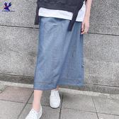 【春夏新品】American Bluedeer - 後開衩牛仔裙 春夏新款