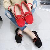 豆豆鞋女鞋春秋單鞋懶人鞋百搭社會平底鞋防滑孕婦媽媽鞋【年中慶降價】