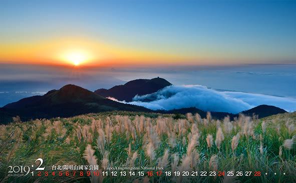 2019 桌曆JL892 艷彩台灣16張-局部上光 ~ 天堂鳥月曆