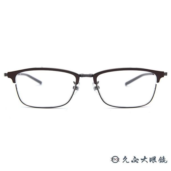 999.9 日本神級眼鏡 S-161T 7 (黑 -鐵灰) 復古方框 近視眼鏡 久必大眼鏡