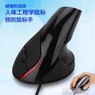 個性新穎有線垂直滑鼠人體工程學光電USB...