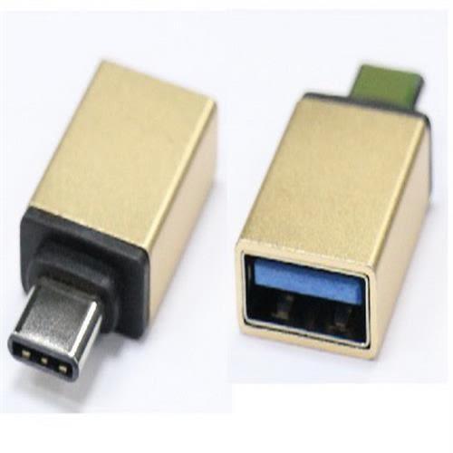 i-wiz 炫彩 Type-C公 to USB3.0 OTG 轉接頭 金