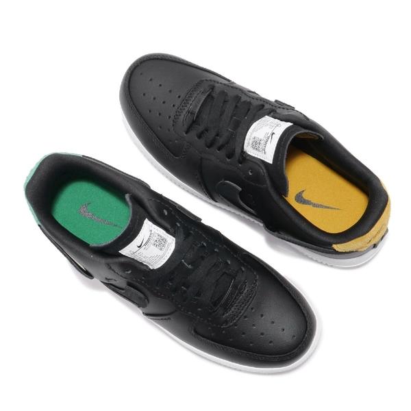 Nike 休閒鞋 Wmns Air Force 1 07 Lux 黑 藍紅 鴛鴦 斷勾 解構主義 女鞋 【ACS】 898889-014
