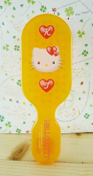 【震撼精品百貨】Hello Kitty 凱蒂貓-KITTY髮梳-愛心圖案-橘紅色