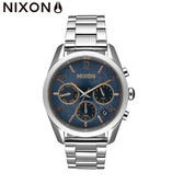NIXON手錶 原廠總代理A949-2195 Bullet Chrono 36 銀色潮流時尚鋼錶帶 男女 運動 生日情人節禮物